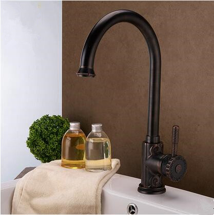 Antique New Designed Black Bronze Brass Classical Kitchen/Bathroom Sink Tap TB0715A
