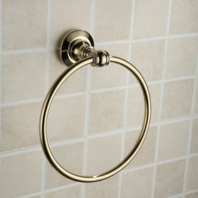 Antique Brass Ti-PVD Wall-mounted Towel Ring TGB1007