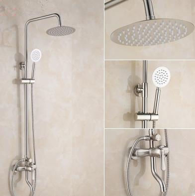 Stainless Steel Nickel Brushed Wall Mounted Shower Tap Set TS519S