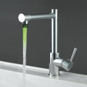 Contemporary Color Changing LED Light Kitchen Tap - T0465F
