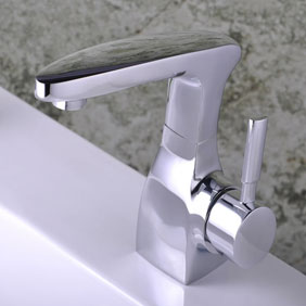Chrome Single Handle Centerset Bathroom Sink Tap T0524