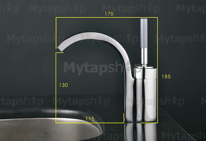 Chrome Single Handle Centerset Bathroom Sink Tap T1737