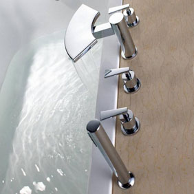 Contemporary Brass Tub Tap with Hand Shower T6019