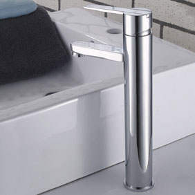 Elegant Brass Bathroom Sink Tap Chrome Finish T0522H