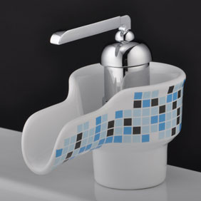 Waterfall Bathroom Sink Tap with Ceramic Spout T0538A