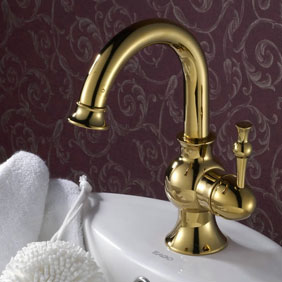 Ti-PVD Finish Solid Brass Bathroom Sink Tap T0430G