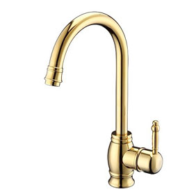 Ti-PVD Finish Widespread Antique Style Kitchen Tap T1727