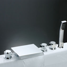 Waterfall Tub Tap with Hand Shower (Chrome Finish) T7017